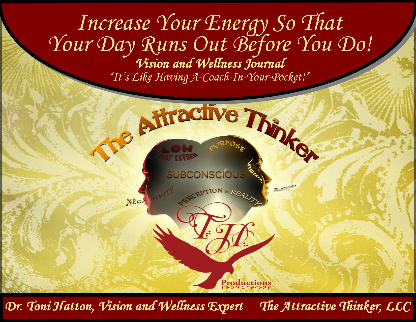 Increase Your Energy Vision and Wellness Journal Cover